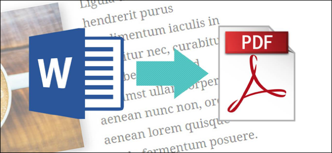 Convert Word documents to PDF